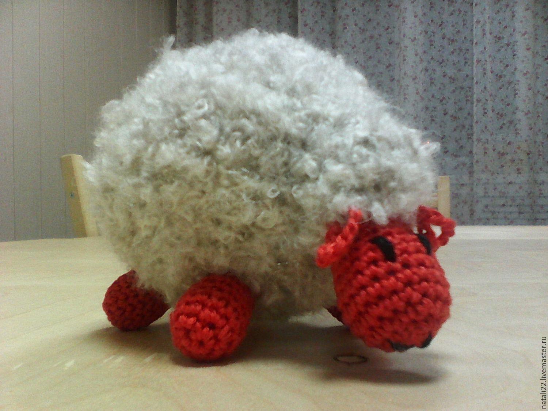 Вязание крючкомигрушка овечка 81