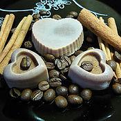 """Косметика ручной работы. Ярмарка Мастеров - ручная работа Масляная плиточка для тела """"Какао с корицей"""". Handmade."""