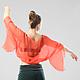 Блузка `Полет` Такую кофту можно одеть на майку или топ, можно использовать на пляже от солнца, сочетая с купальником, а можно дополнить свой костюм для восточного или tribal танца.