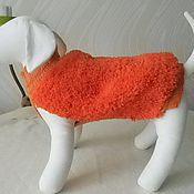 Для домашних животных, ручной работы. Ярмарка Мастеров - ручная работа Меховой жилет для собачки. Handmade.