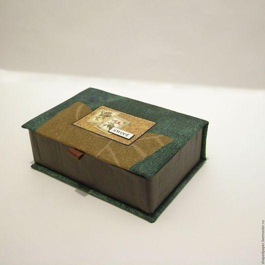 Фотоальбомы ручной работы. Ярмарка Мастеров - ручная работа. Купить Фотобокс, коробка для фото, картонаж.. Handmade. Зеленый, хранение фотографий
