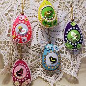 Подарки к праздникам ручной работы. Ярмарка Мастеров - ручная работа Пасхальные яйца из фетра подвески подвески. Handmade.