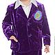 """Одежда для мальчиков, ручной работы. Ярмарка Мастеров - ручная работа. Купить Бархатный костюм """"Сева"""". Handmade. Тёмно-фиолетовый"""