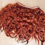 Материалы для творчества handmade. Livemaster - original item Mohair tress (chestnut) (Hair for dolls). Handmade.