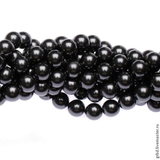 Для украшений ручной работы. Ярмарка Мастеров - ручная работа. Купить Жемчуг Сваровски 6 мм 5810 Black (06BL - 298). Handmade.