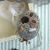 Украшения handmade. Livemaster - original item Dodo lV. Textile brooch with embroidery. Handmade.