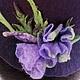 """Шляпы ручной работы. Ярмарка Мастеров - ручная работа. Купить шляпка """"климатис"""". Handmade. Тёмно-фиолетовый, шапка женская, бисер"""
