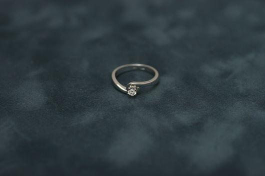 Кольца ручной работы. Ярмарка Мастеров - ручная работа. Купить Кольцо с бриллиантом. Handmade. Серебряный, кольцо с камнем, золотое кольцо