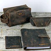 Сумки и аксессуары handmade. Livemaster - original item 6-piece Genuine Leather Set. Handmade.