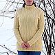 Кофты и свитера ручной работы. Заказать Вязаный свитер с косами. Knitted Sea. Ярмарка Мастеров. Вязание спицами, пуловер вязаный