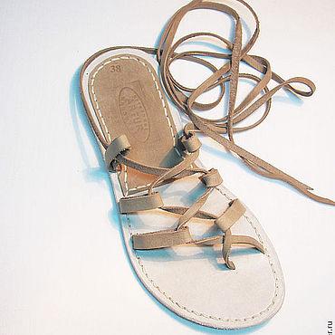 Обувь ручной работы. Ярмарка Мастеров - ручная работа Греческие сандалии №4. Handmade.