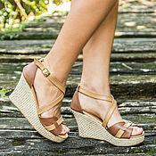 Обувь ручной работы handmade. Livemaster - original item Sandals made of genuine leather Vicky. Handmade.