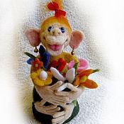 """Куклы и игрушки ручной работы. Ярмарка Мастеров - ручная работа Войлочная фигурка — """"Я такая вся счастливая!"""". Handmade."""
