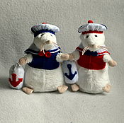 handmade. Livemaster - original item Guenole the marine mouse which brings happiness. Handmade.