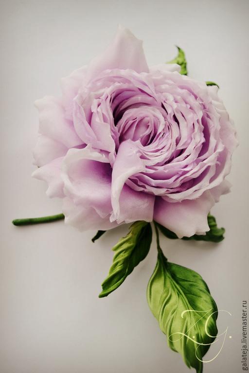 Броши ручной работы. Ярмарка Мастеров - ручная работа. Купить Цветы из шелка Брошь Сиреневый Рассвет. Handmade. Сиреневый