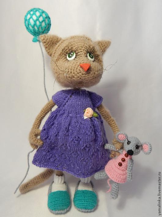 """Вязание ручной работы. Ярмарка Мастеров - ручная работа. Купить Мастер класс """"Кошечка с игрушками"""". Handmade. Разноцветный, акция"""
