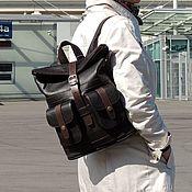 Сумки и аксессуары handmade. Livemaster - original item Backpack leather womens brown Alejo Mod R32-122. Handmade.