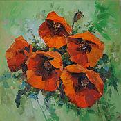 Картины и панно handmade. Livemaster - original item poppies. oil painting. Handmade.
