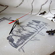 """Для дома и интерьера ручной работы. Ярмарка Мастеров - ручная работа Часы """"Бонжур"""". Handmade."""