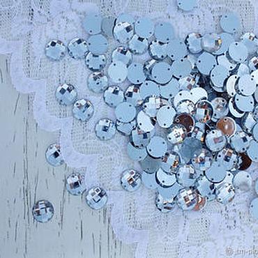 Материалы для творчества ручной работы. Ярмарка Мастеров - ручная работа 100 штук. Стразы пришивные круглые, 8 мм х 8 мм. Handmade.