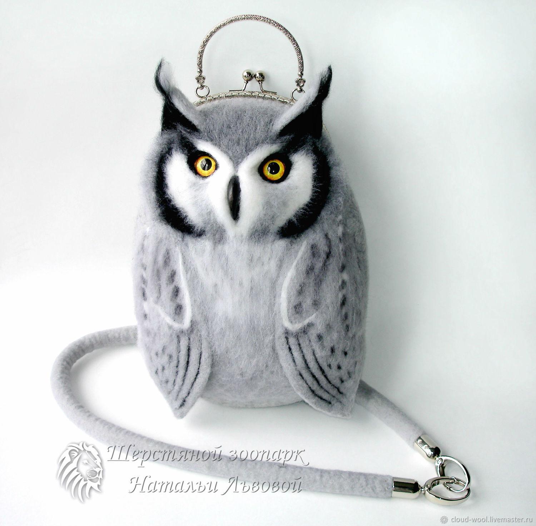 Handbags handmade. Livemaster - handmade. Buy Bag Owl / women's felted purse / bag from a wool / owl eared.
