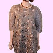 handmade. Livemaster - original item Brown felted Merino wool poncho tunic. Handmade.