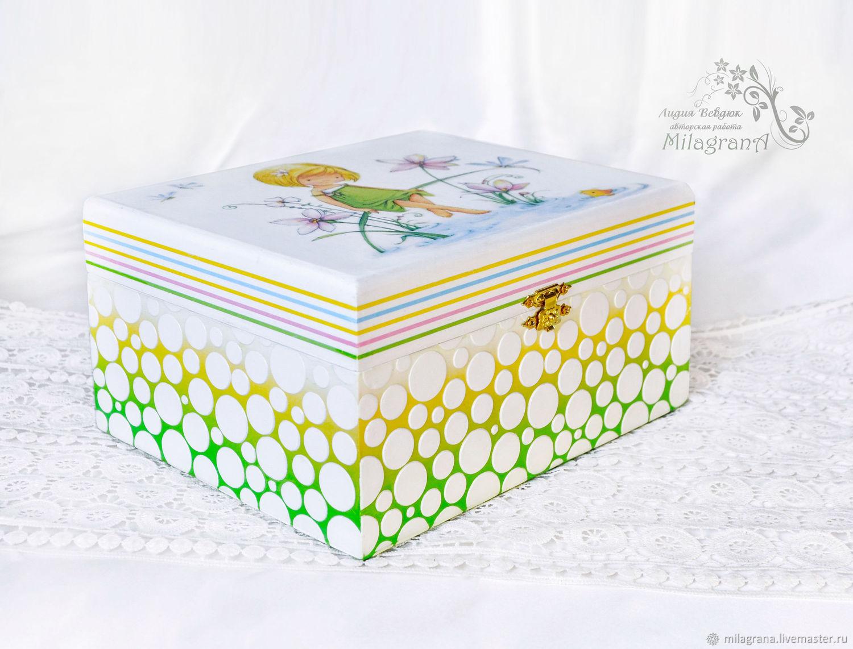 Box Childrens dream Childrens jewelry box decoupage jewelry Box