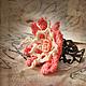 """Кольца ручной работы. Заказать Кольцо """"Розочка"""". .......TextileArt......  Елена Ост. Ярмарка Мастеров. Розовый, роза, бохо"""