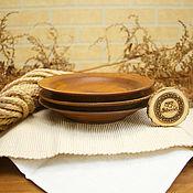 Посуда handmade. Livemaster - original item Set of wooden plates 3 PCs (19#41. Handmade.