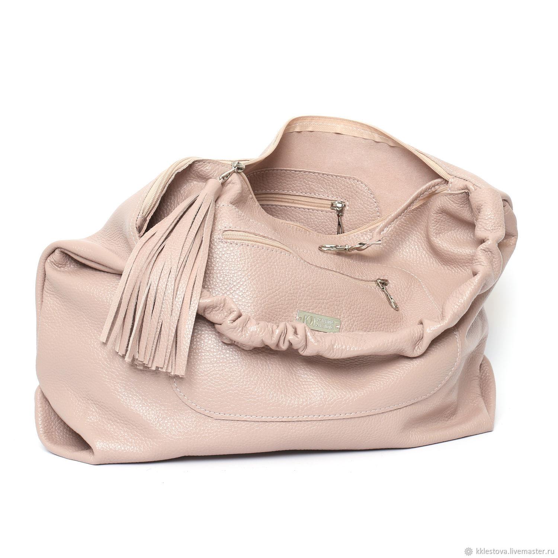 My Handbags handmade. Pink Bag Hobo Bag Duffel Shopper Ash Rose Powder.  BagsByKaterinaKlestova. My d9bceb0bc903f