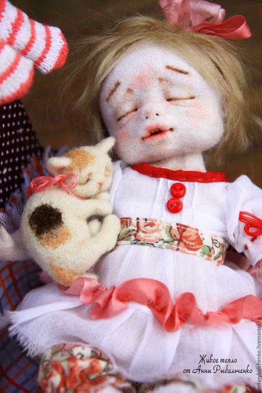 Коллекционные куклы ручной работы. Ярмарка Мастеров - ручная работа. Купить Спят усталые ребятки.... Handmade. Белый, коллекционная кукла