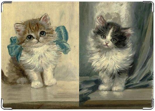 """Обложки ручной работы. Ярмарка Мастеров - ручная работа. Купить обложка """"котята"""". Handmade. Котята, обложка для паспорта, милый подарок"""