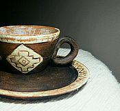 Посуда ручной работы. Ярмарка Мастеров - ручная работа Кружка кофейная 100 мл.. Handmade.