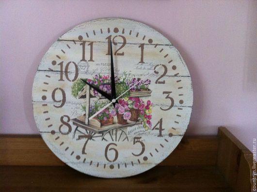 """Часы для дома ручной работы. Ярмарка Мастеров - ручная работа. Купить Часы """"Мой сад"""". Handmade. Прованский стиль"""