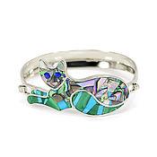 Украшения handmade. Livemaster - original item Bracelet Cat. Bracelet with Malachite, Turquoise, lapis Lazuli and mother of Pearl.. Handmade.