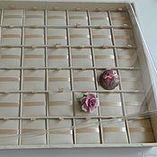 Органайзеры ручной работы. Ярмарка Мастеров - ручная работа Планшет для средних брошей, 48 ячеек (3,5х3,5 см) с крышкой. Handmade.