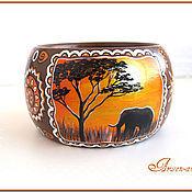 """Украшения ручной работы. Ярмарка Мастеров - ручная работа Браслет """"Оранжевая Африка"""". Handmade."""