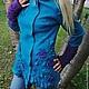 Верхняя одежда ручной работы. Куртка валяная Нейтири. Марина Власенко. Ярмарка Мастеров. Куртка с капюшоном