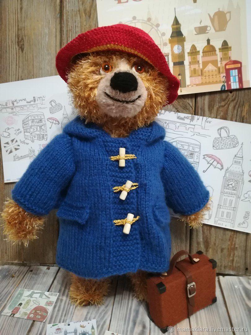 Игрушка Мишка Падди в красной шляпе с чемоданом, Мягкие игрушки, Ромны,  Фото №1