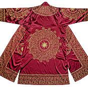 Одежда ручной работы. Ярмарка Мастеров - ручная работа Узбекский золошвейный национальный халат, чапан G022. Handmade.