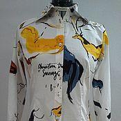 Рубашки ручной работы. Ярмарка Мастеров - ручная работа Рубашка Slim Fit , ткань в стиле Dior. Handmade.