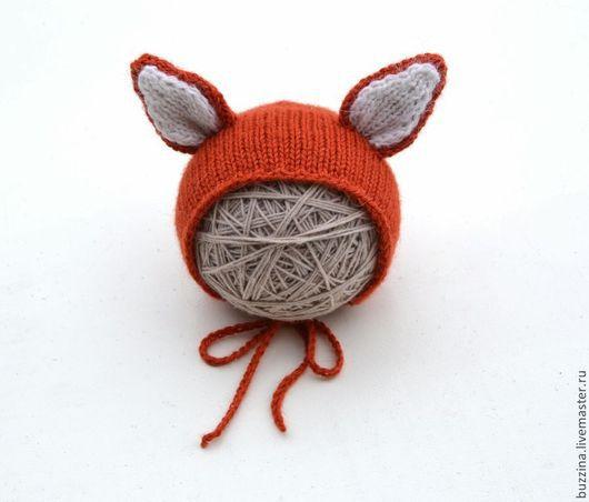 Для новорожденных, ручной работы. Ярмарка Мастеров - ручная работа. Купить Лисенок шапочка для фотосессии новорожденных. Handmade. Шапка, чепчик