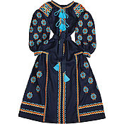"""Одежда handmade. Livemaster - original item Длинное платье с клиньями """"Трипольськое Солнце"""". Handmade."""