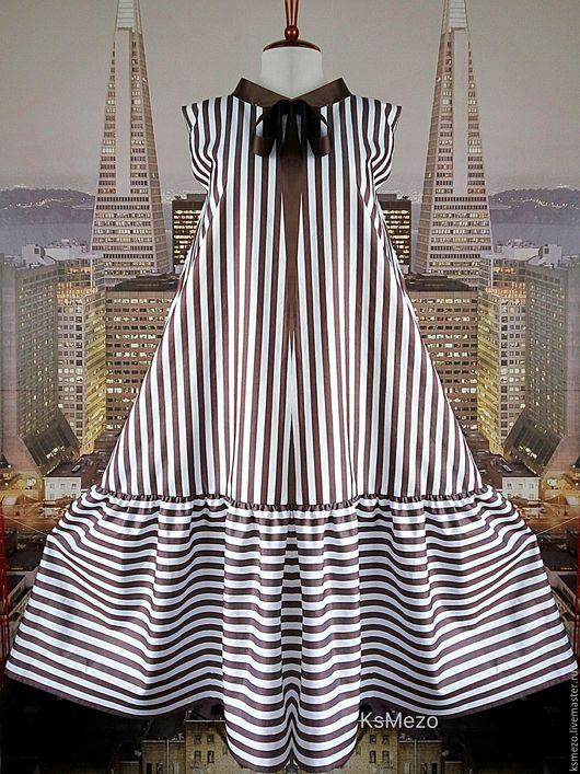 """Платья ручной работы. Ярмарка Мастеров - ручная работа. Купить Платье """"Морское"""" свободное.. Handmade. Платье сарафан"""