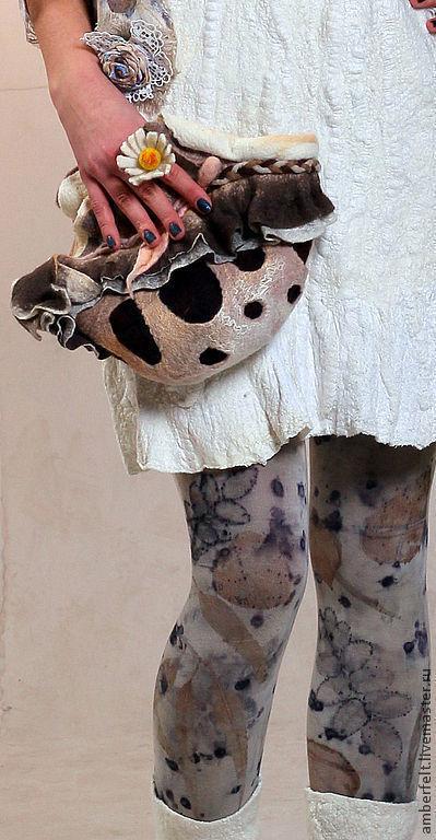 Носки, Чулки ручной работы. Ярмарка Мастеров - ручная работа. Купить Эко Колготки,  контактное крашение, Эко-принт.. Handmade.