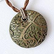 Подвеска ручной работы. Ярмарка Мастеров - ручная работа Кулон Климт в зеленом. Handmade.
