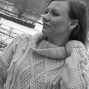 Свитеры ручной работы. Ярмарка Мастеров - ручная работа Женский свитер крупной вязки. Handmade.