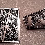 Винтаж handmade. Livemaster - original item Brooch of the USSR metal silvering of the 1960s. Handmade.