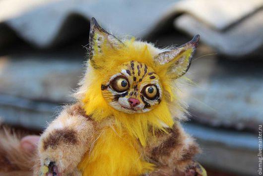 Дикий котенок, авторская игрушка, рысь