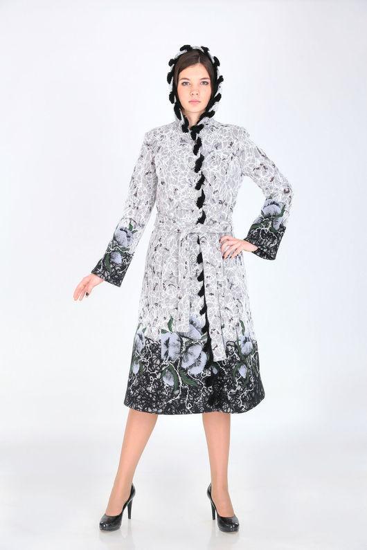 Верхняя одежда ручной работы. Ярмарка Мастеров - ручная работа. Купить Пальто зимнее ПЗ 06. Handmade. Серый